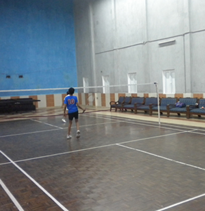 Ordnance club for Badminton court ceiling height